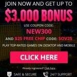 Slots of Vegas $3000 Bonus and $25 Free Chip
