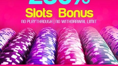 250% Slots Bonus